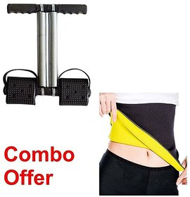 Combo Of Double Spring Tummy Trimmer With Hot Shaper Be