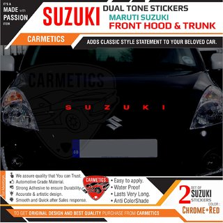 Suzuki dual tone stickers for Maruti Suzuki Ecco- 2Pcs - CarMetics