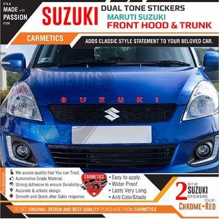 Suzuki dual tone stickers for Maruti Suzuki Wagon R - 2Pcs - CarMetics