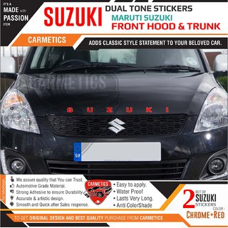 Suzuki dual tone stickers for Maruti Suzuki Celerio- 2Pcs - CarMetics