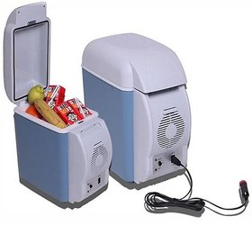 UNIQUE AUTO  Cooling  Warming 7.5 L Car Refrigerator  (Blue, Grey)-003