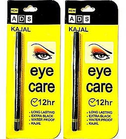 ADS 12 Hr Long Last Eye Care Soft Kajal - Pack Of 2
