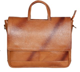 OBANI Genuine Leather Laptop Messenger Bag TL33