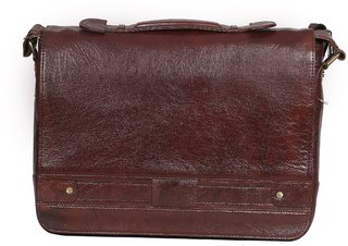 OBANI Genuine Leather Laptop Messenger Bag TL38