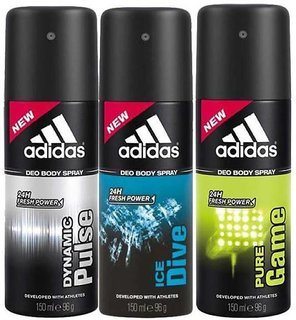 ADIDAS Body Spray - For Men (450 ml, Pack of 3)