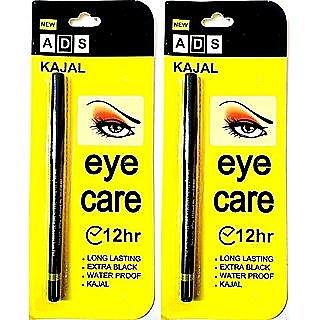 ADS 12 Hr Long Last Eye Care Soft Kajal - Pack Of 2