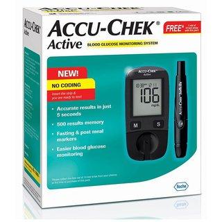 Accu Chek Active Glucose Monitor + FREE 10 Test Strips