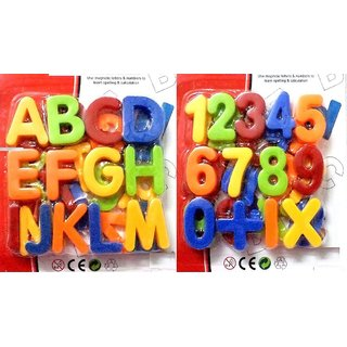 Combo of Magnetic Learning Alphabets and Numbers small (ABC 123)
