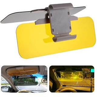 kudos Hd Car Anti-Glare Dazzling Day Night Vision Driving Mirror Sun Visors