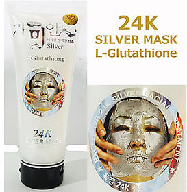 24K Silver Mask Cream White Facial Treatment 220 ml Moist Skin