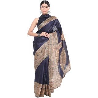 Indian Beauty Women's Nice One Blue Color Khadi Silk Printed Saree