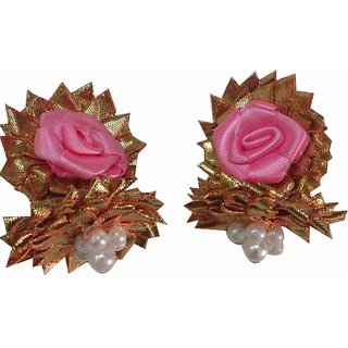 Handmade Gota Patti Multi-Colour Jhumka Earrings