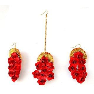 Handmade Gota Patti Jhumka Earrings