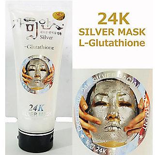 24K Silver Mask Cream White Facial Treatment 220 ml Moist Skin