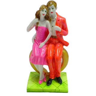 Paras Magic Couple Sitting On Heart Pink And Orange