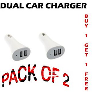 Combo Of 2 MICRO USB CAR CHARGER CODEQP-1049