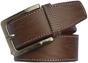 Sunshopping Brown Leatherite Pin-Hole Buckle Belt for Men