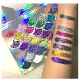 Cleof Cosmetics Mermaid Glitter Eyeshadow Palette 32 Shades