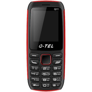Q-Tel Q11 (Dual Sim 1.8 Inch Display Multi Language Support Wireless FM 800 Mah Battery)