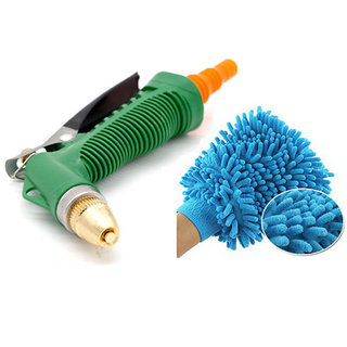 right traders  High pressure Washer Hose Nozzle Combo 1 Fiber Gloves