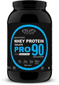 Sinew Nutrition Raw Whey Protein Isolate Pro 90, 1Kg (U