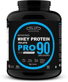 Sinew Nutrition Raw Whey Protein Isolate Pro 90, 2Kg (U