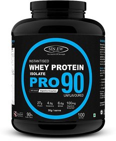 Sinew Nutrition Raw Whey Protein Isolate Pro 90, 3Kg (U