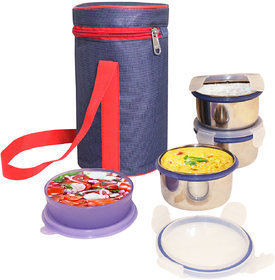 Topware Matty Blue 3 Pcs Stainless Steel Container