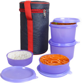 Topware 4 Round Container Cylendrical Lunch Box