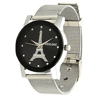 79ce1e08d425 Buy Wenlong Round Dial Silver Stainless Steel Analog Watch For Women ...