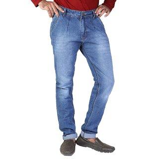 2deb8653a8c Buy Fashionable Men s Blue Colored Polo Fit Cotton Denim Vistara ...