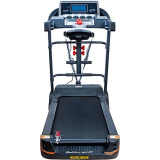 Healthgenie 6in1 Motorized Treadmill 4612A with Auto Incline Massager Sit-ups TummyTwister Dumbbells 2HP DC Motor Max Speed 16Kmph