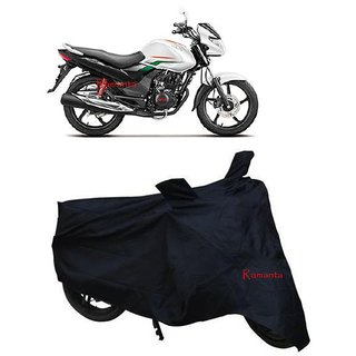 Ramanta Polyster Bike Body Cover with Mirror Pockets for - Hero Achiever 150 (Color Black) (Pack of 1)