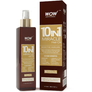WOW Skin Science 10-in-1 Active Miracle Hair Oil - 200 ml