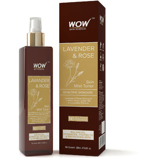 WOW Skin Science Lavender  Rose Skin Mist Toner - 200 ml