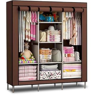 Home Basics 3 Door Foldable Almirah Wardrobe Cupboard (Random Color) DIY