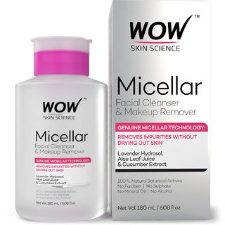 WOW Skin Science Micellar Facial Cleanser Makeup Remover