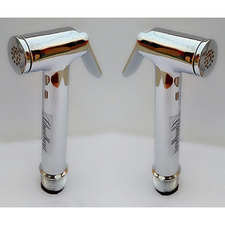 CLOUDBURST Combo of Silk Health Faucet Full Set with Stainless Steel  Hose 2 pcs. (1 mtr.)+Wall Hook pvc 2 pcs.