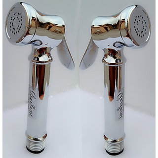 Combo of Legend Health Faucet Full Set with Stainless Steel  Hose 2 pcs(1.5 mtr.)+Wall Hook pvc 2 pcs