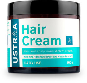 USTRAA Hair Cream for Men - For Daily Use- Style  nourishment - Non-sticky, Non-oily - Sulphate  Paraben FREE