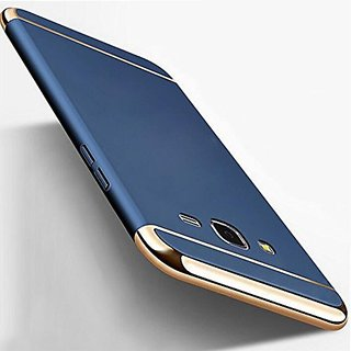 Samsung Galaxy J7 Nxt Chrome Back Cover 3in1 Back Case Cover for Samsung Galaxy J7 Nxt (Blue) By Vinnx