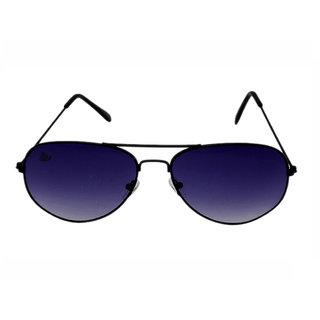 Abloom Mens Purple Aviator Free-size Mirrored Full Rim Sunglasses