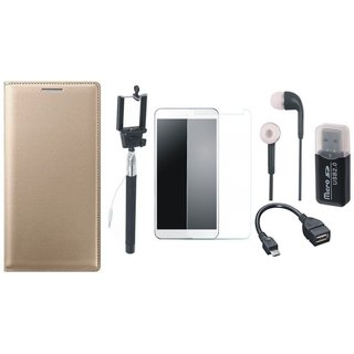 Vivo V9 Luxury Cover with Memory Card Reader, Free Selfie Stick, Tempered Glass, Earphones and OTG Cable