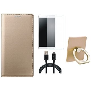 Samsung On7 Prime Cover with Ring Stand Holder, Tempered Glass and USB Cable