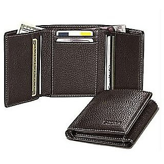Combo of Two PCs Tri Fold Leather Wallet for men and women