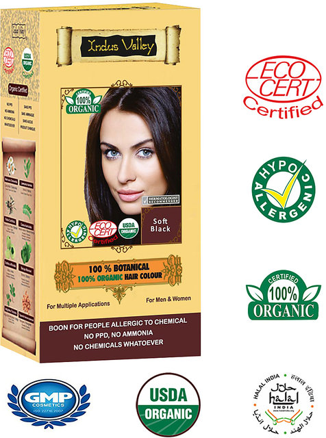 Natural Hair Colour Botanical Soft Black Without Chemicals And Colour  Protective Shampoo Set Of 3