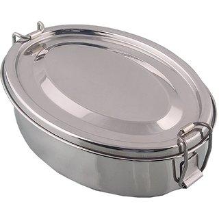 Kuber Industries Stainless Steel Rectangular Shape Lunch Box | School Lunch Box Set of 1 Pc (Regular Size) Code-STLN04