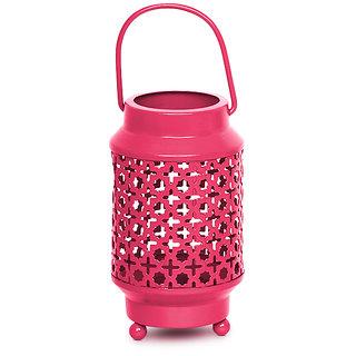 Pink Metal Lantern