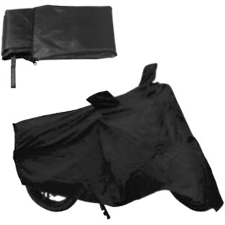 HMS BLACK BIKE BODY COVER FOR SCOOTY PEP PLUS - (FREE ARM SLEEVES+MASK)