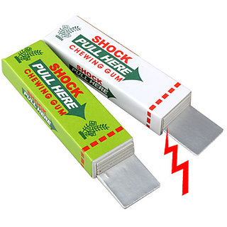 Self Shocking Gum, Funny Shock Gag (Set of 2)
